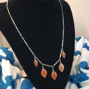 Sarah Coventry Leaf Necklace